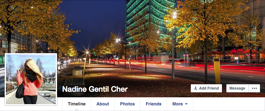 Nadine Gentil Cher https://www.facebook.com/profile.php?id=100007627487397 So uncreative. Veronika Hompo and all these Nazis will spend 20 hours trolling and working on utter crap, but won't take one minute to make up a new fake alias for the latest sock account on Facebook. Totally lame.