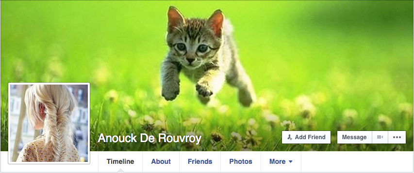 Anouck De Rouvroy https://www.facebook.com/profile.php?id=100010124676650 Yet another fake profile Veronika Hompo is using because she is far too much a coward and in fear of Jews and Christians to use her own profile with her name. Coward psychopath.