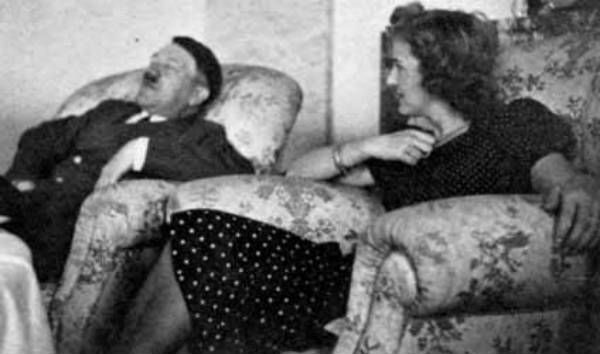 Hitler and Eva Braun, 1945.