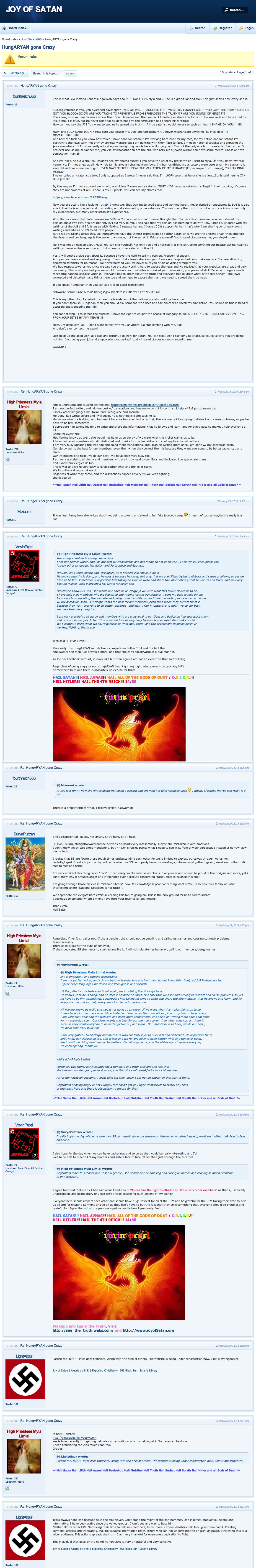 Vovinprgel Hungarian Cultist Nazis Neo Nazis The Joy Of Satan